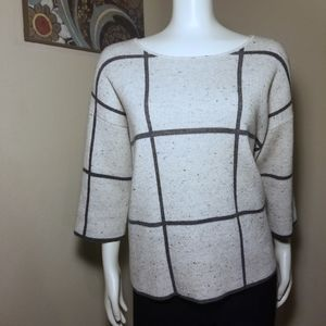 Eileen Fisher Geometric Striped Sweater XS